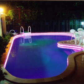 Подсветка в воде.